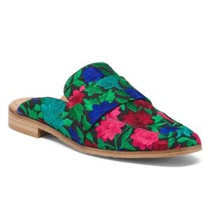 Free People At Ease Brocade Slip On Mule Size 9